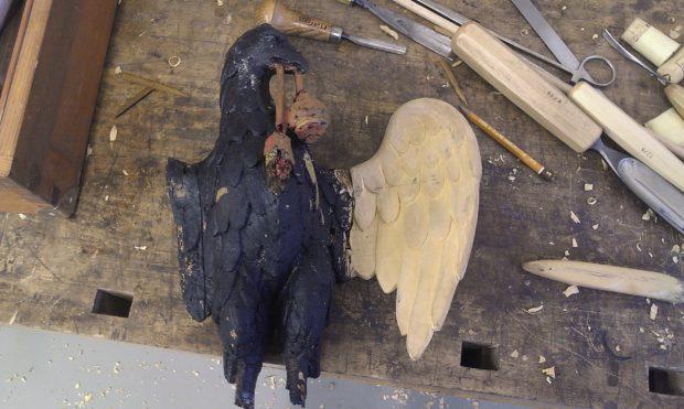 Průběh řezání křídla